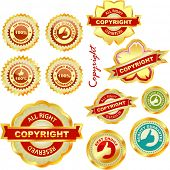 Vector label set for sale.