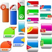 Vector great collection of sale banners