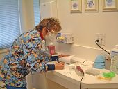 Dental Assistant At Work