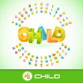 CHILD. Vector 3d illustration.