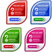 Set of sale labels. Vector illustration.