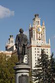 Monument To Mikhail Lomonosov poster