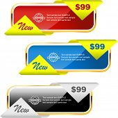 Vector banner set for sale