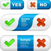 Yes and No button set.