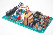 stock photo of plc  - a circuit board on a neutral background - JPG