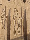 Bas Reliefs On Edfu Temple - God Edfu