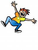 stock photo of happy kids  - adobe illustrator vector file of happy jumping kid - JPG