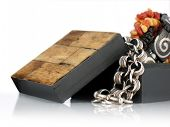 Wooden Gift Box With Jewelry