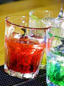 picture of night-club  - night club still life with alcoholic drinks - JPG