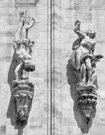 picture of domme  - Fragment of Milan Cathedral  - JPG