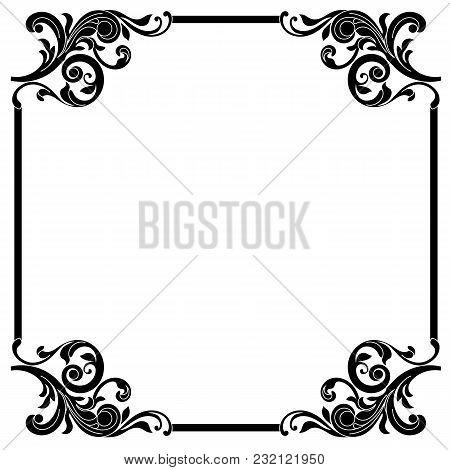 Vintage ornament pattern frame, border ornament pattern frame ...