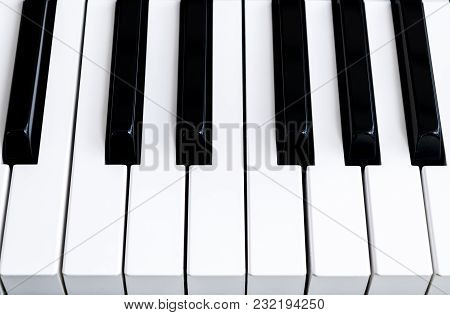 Top View Of Piano Keys