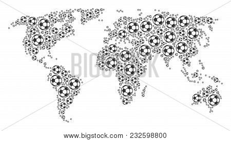 Continental Map Concept Constructed Of