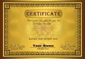 vector certificado Ouro Frame