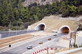 Highway Traffic By Tunnels