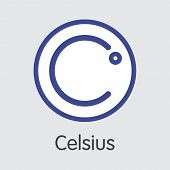 Celsius - Sign Icon Of Fintech Industry, Finance Digitization. Modern Element. Premium Quality Icon  poster