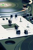 Mixing Controller And Turntables