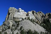 picture of mount rushmore national memorial  - Mount Rushmore National Monument in the Black Hills - JPG