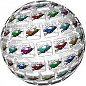 eine breite Palette von Auto sind Entscheidungen vor Ihnen, wählen Sie aus vielen verschiedenen Farben von Autos, aber th