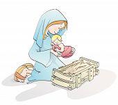 Cute Christmas Nativity