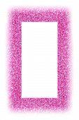 Fancy Pink Glitter Sparkle Confetti Background For Happy Birthday Party Invite, Picture Frame, Princ poster