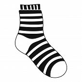 Fuzzy Sock Icon. Simple Illustration Of Fuzzy Sock Vector Icon For Web poster