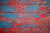 Background Of Red And Blue Painted Boards