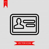 Personal Card Icon Vector In Modern Flat Style For Web, Graphic And Mobile Design. Personal Card Ico poster
