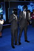 LOS ANGELES - DEC 11: Daft Punk at the world premiere of 'Tron' held at the El Capitan Theatre in Lo