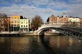 Half Penny Bridge In Dublin