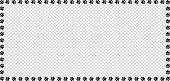 Rectangle Frame Made Of Black Animal Paw Prints On Transparent Background. Vector Illustration, Temp poster
