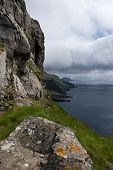 Scenic view of Mykines, Faroe Islands