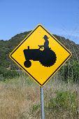 Farmer Crossing Sign
