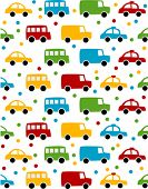 Seamless toy car background for baby boy.