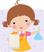 Child in a Chem Lab - Vector