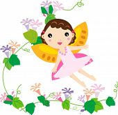 image of tinkerbell  - cute flower fairy - JPG