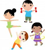 picture of hulahoop  - Four kids sport - JPG