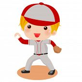 a Kid throwing a baseball