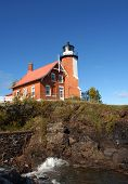 Eagle Harbor Lighthouse And Cliff