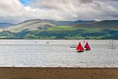 stock photo of anglesey  - Sailboats in Anglesey Island - JPG