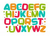 Kids Alphabet, Colorful Cartoon Font, Kid Letters Set, Play Room Funny Design Element, Kids Zone Vec poster
