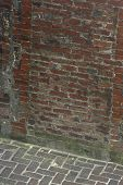 Ancient Wall And Walkway