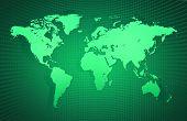 Earth Atlas On Gridlines