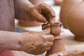 Making A Little Pot.