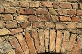 Old Decorative Brick Wall