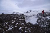 Saxholl Is A Beautiful Formed Crater That Erupted 3-4000 Years Ago In North Iceland And Man Photogra poster