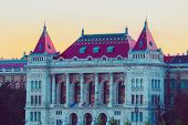 Hungary, Budapest Architecture, Historical Beautiful Building. European Old City Castle Building Ext poster