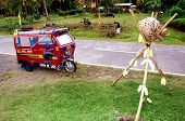 Tricycle At Lanzones Festival Philippines