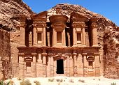 stock photo of petra jordan  - The Monastery at Petra - JPG