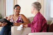 stock photo of counseling  - A person going through their counseling session - JPG